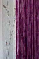 Шторы нити фиолетовые однотонные №205