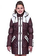 Стильная детская курточка на девочку с капюшоном