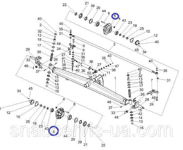 Ступица моста управляемых колес КЗС-1218