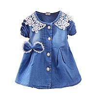 Коттоновое детское платье размер 86., фото 1