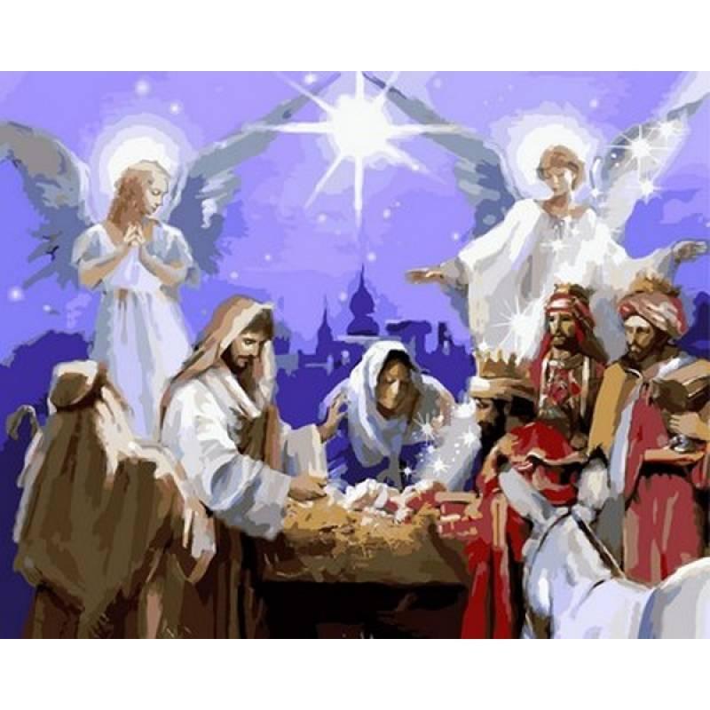 """Картина по номерам 50х40см Babylone Turbo """"Рождество Христово"""""""