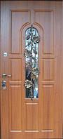 Двері вхідні одинарні з ковкою, фото 1