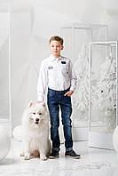 Нарядная рубашка для мальчика белая, Krytik, Италия