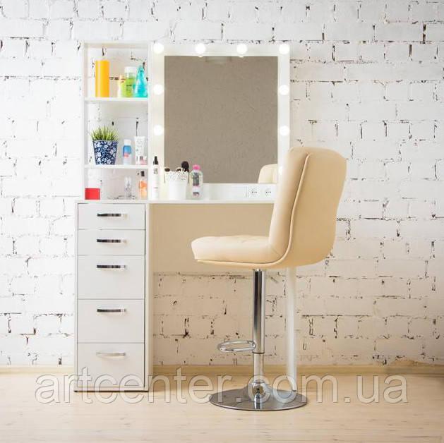 Стол визажиста с тумбой и стеллажом, стол для макияжа с гримерным зеркалом