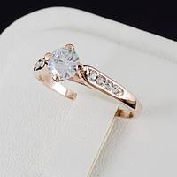 Прелестное кольцо с кристаллами Swarovski, покрытие золото 0510, фото 1