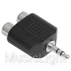 Переходник с джек 3,5 стерео на RCA ( тюльпан )  3,5mm stereo to RCA