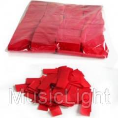 Металлическая нарезка конфетти- размер 2см*5см   4201 - КРАСНЫЙ МАЙЛАР