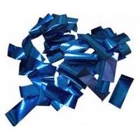 Металлическая нарезка конфетти - размер 2см*5см  4201 - СИНИЙ МАЙЛАР
