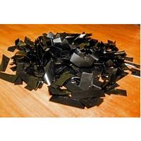 Металлическая нарезка конфетти - размер 2см*5см  4201 - ЧЕРНЫЙ МАЙЛАР