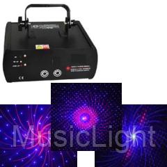 Лазер BIG  BEBIGPATERN RED BLUE ( Совмещенный гобо (8 патернов) - феерверк лазер )