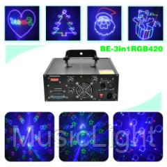 Лазер BIG BE3in1RGB420 ( полноцветный мультимедийный лазер ) DMX
