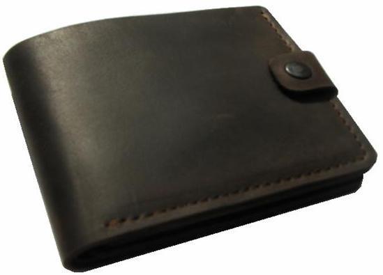 Кошелек мужской  Case  ПМ-1001, коричневый, из кожи