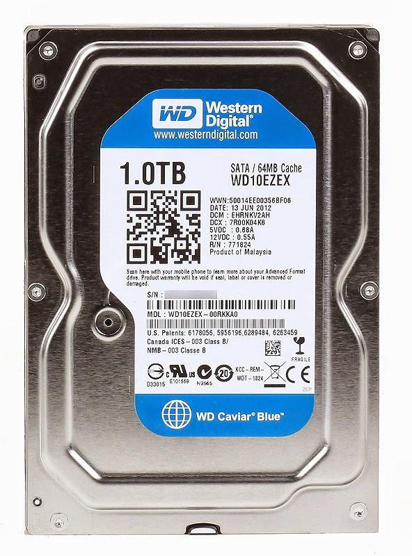 Жорсткий диск 3.5 1TB WD Blue (WD10EZEX)