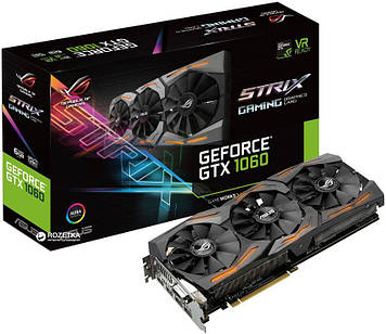 Відеокарта Asus GeForce GTX 1060 ROG Strix 6GB (STRIX-GTX1060-6G-GAMING)