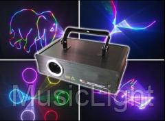 Полноценный всецветный лазер BE500RGB с анимационной графикой
