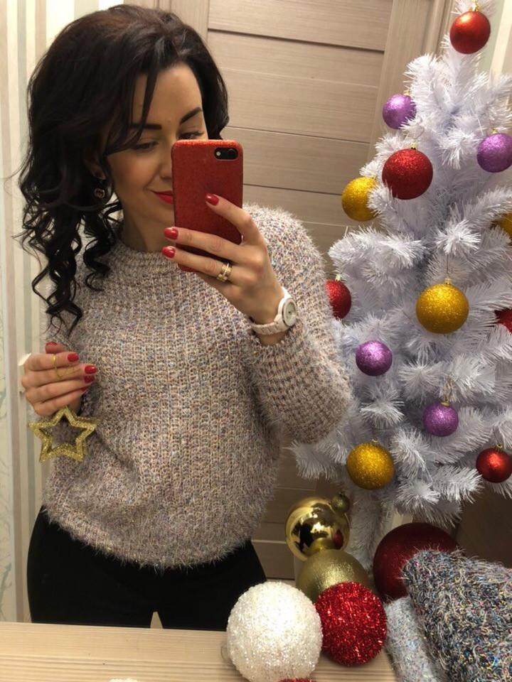 Женский очаровательный свитер  (Фабричный Китай )  Код 0311