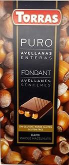 Черный  шоколад Torras c фундуком , 200 гр