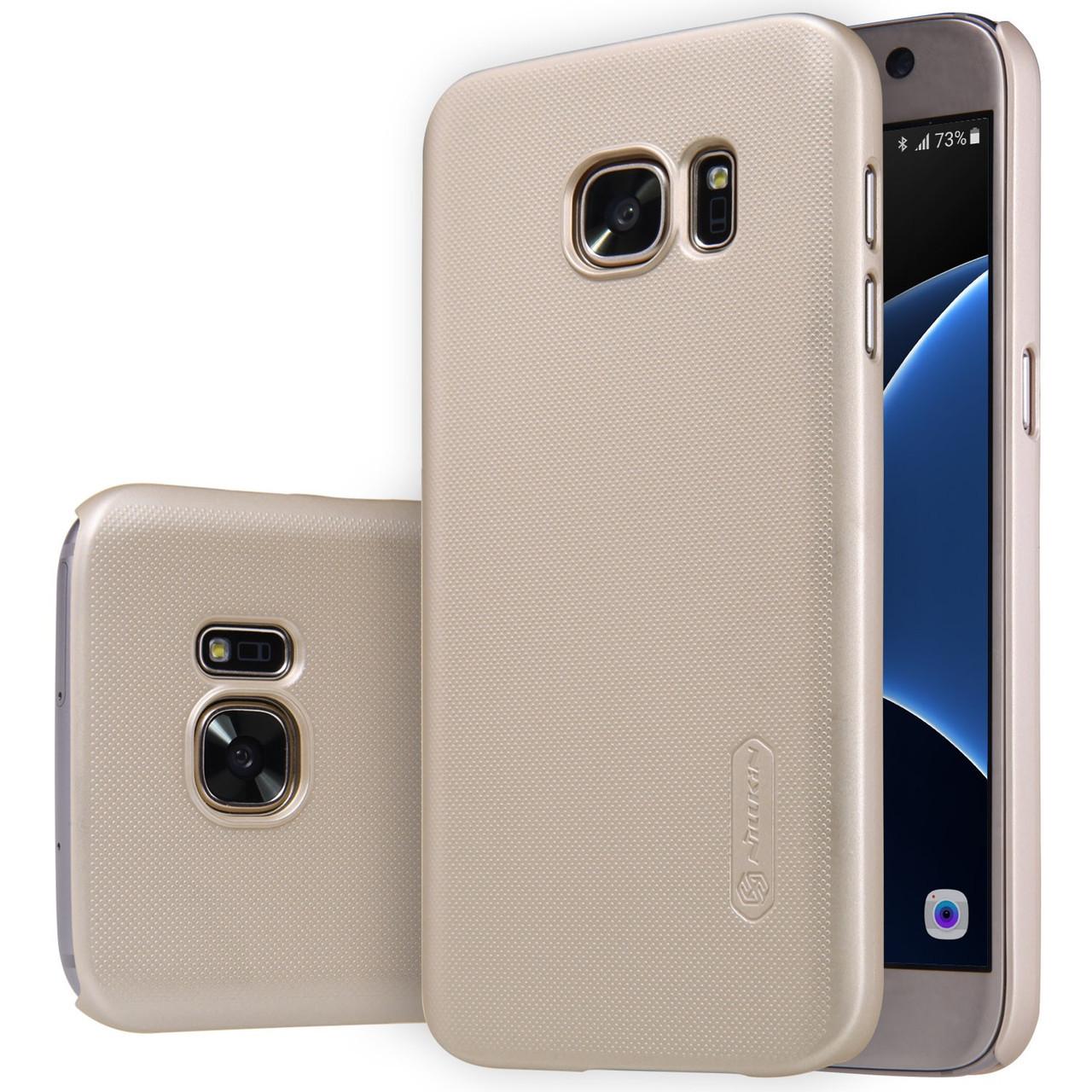 Чохол Nillkin Super Frosted Shield для Samsung Galaxy S7 Gold