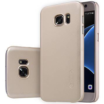 Чехол Nillkin Super Frosted Shield для Samsung Galaxy S7 Gold