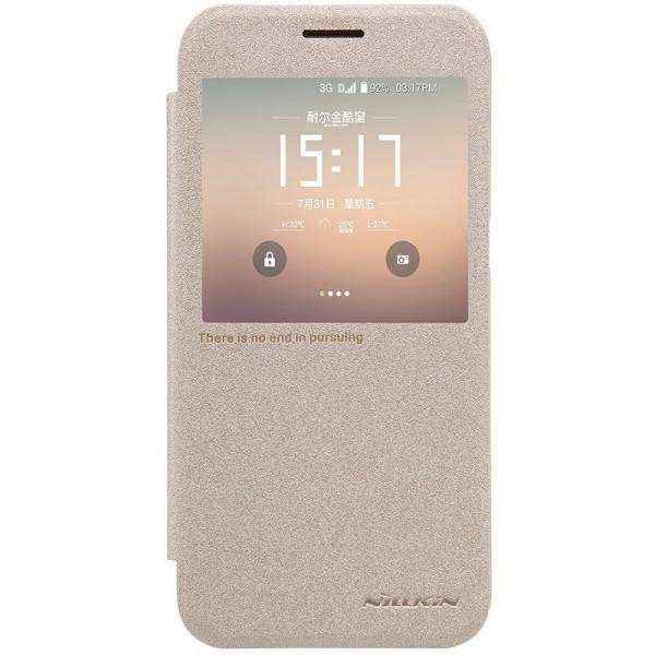 Чехол-книжка Nillkin Sparkle Series для Samsung G930F Galaxy S7 Gold
