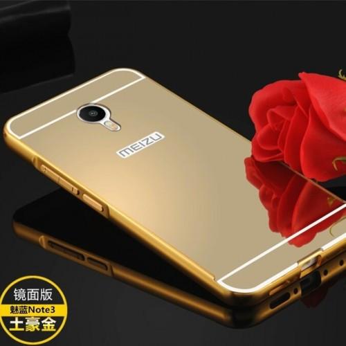 Алюмінієвий чохол дзеркало для Meizu M3 Note Gold