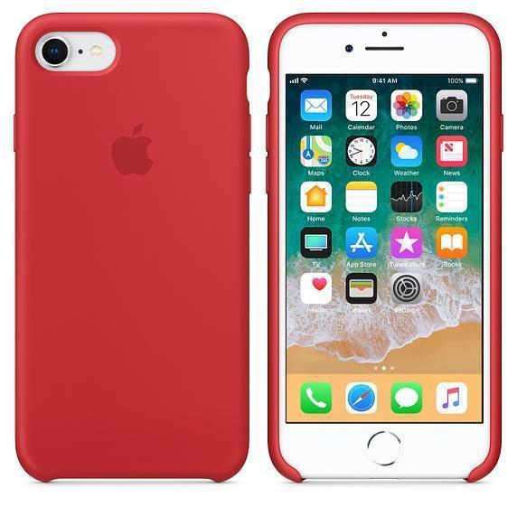 Чехол для iPhone 7 Original silicone case красный