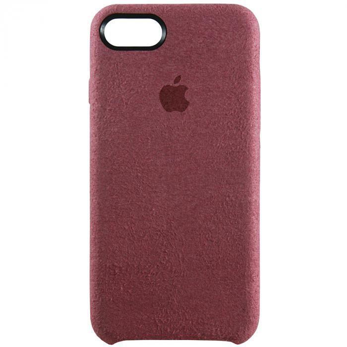Чехол для iPhone 7 из Алькантары (бордовый)