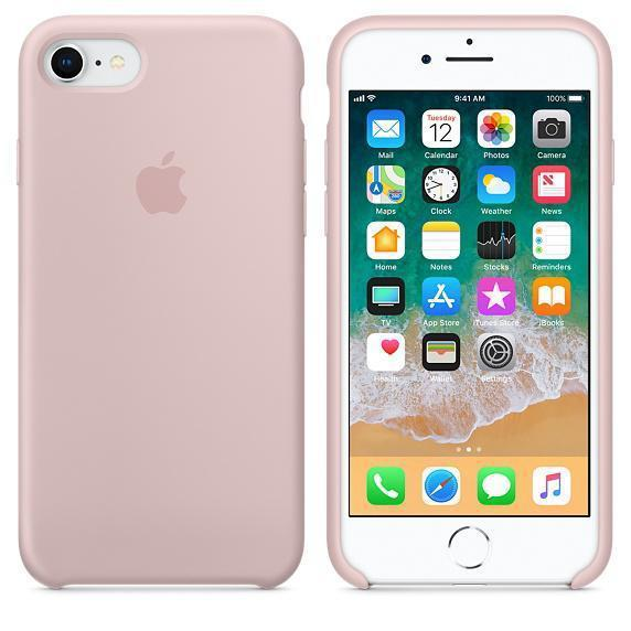 Чохол для iPhone 7 Original silicone case рожевий пісок