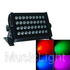 Полноценный прожектор на светодиодах BIG BMHD220 LED, RGBW - 256 вариантов цветов, DMX