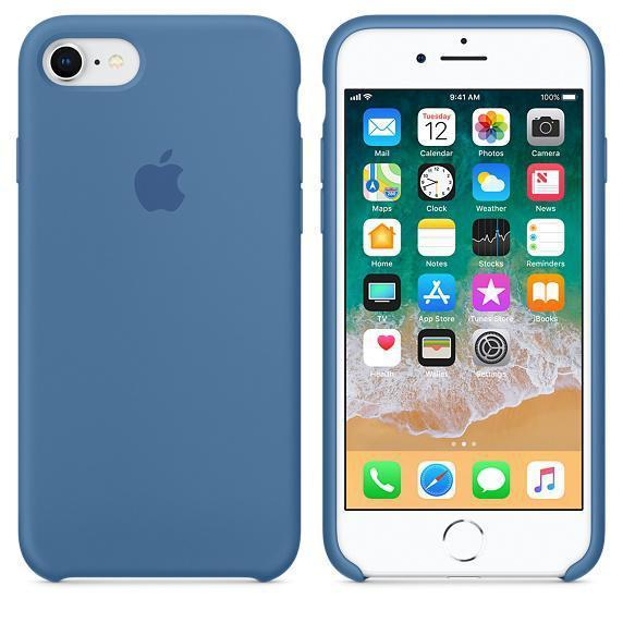 Чехол для iPhone 7 Original silicone case (HC) голубой
