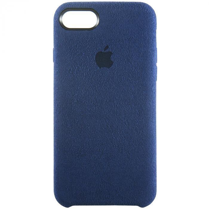 Чехол для iPhone 7 из Алькантары синий
