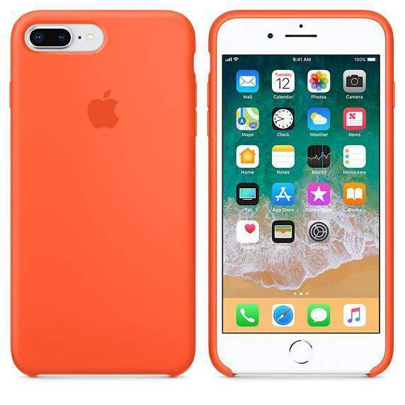 Чехол для iPhone 7 plus Original silicone case (HC) оранжевый