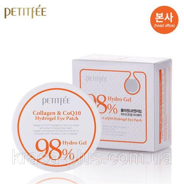 Гидрогелевые патчи для глаз с коллагеном и коэнзимом Petitfee Collagen & Co Q10 Hydrogel Eye Patch 60 шт