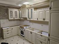 Кухня дерев'яна (ясен) з різьбленим візерунком під замовлення від виробника., фото 1
