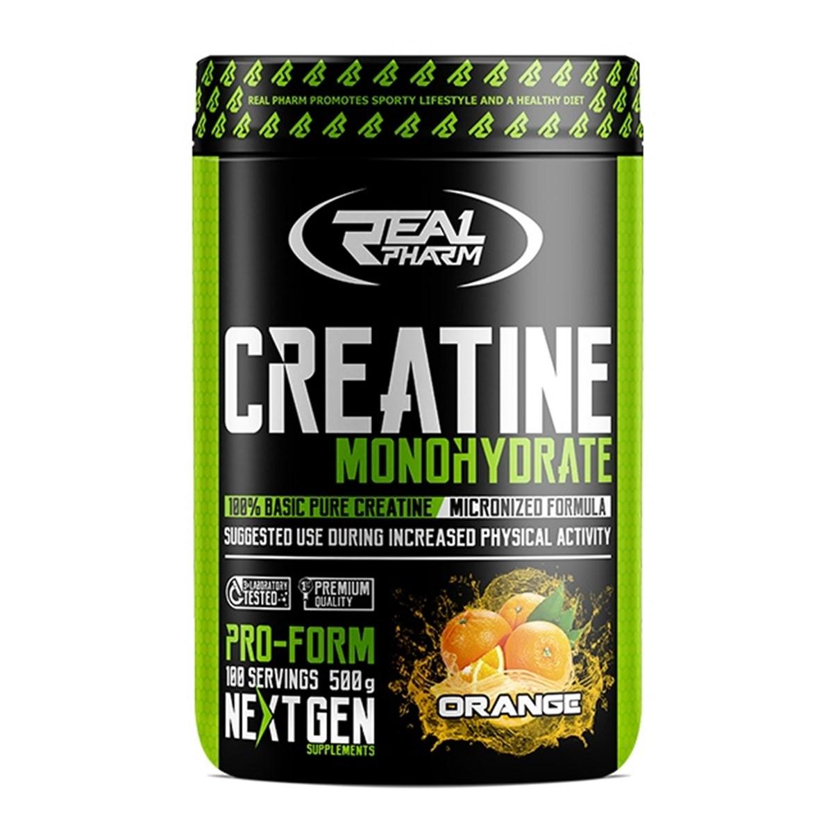 Креатин Real Pharm Creatine Monohydrate 500 g apple-rhubarb