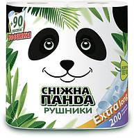 """Полотенца бумажные """"Снежная Панда"""" Экстралонг, 2 слоя, 200 отрывов, 2шт"""