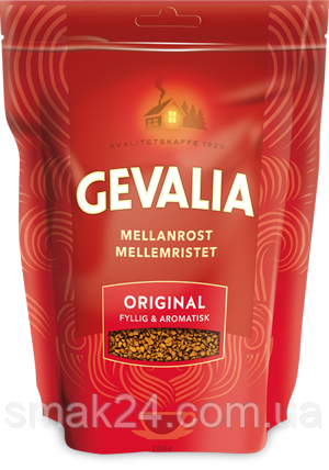 Кофе растворимый  Gevalia Mellan Rost Original арабика 200г Швейцария