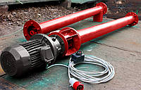 Шнековый питатель (транспортер, цемента) диаметром 133 мм., длиною 2 метра