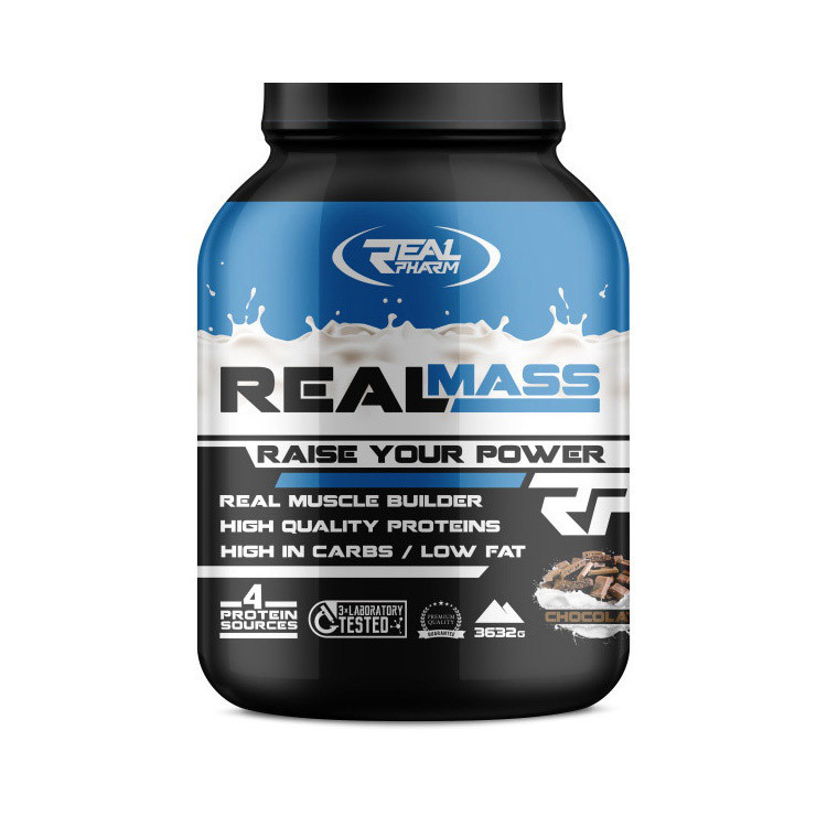 Гейнер Real Pharm Real Mass 3,6 kg caramel
