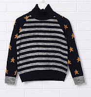 Теплый свитер с горлом для мальчика Top Hat Звезды (128,134,140)