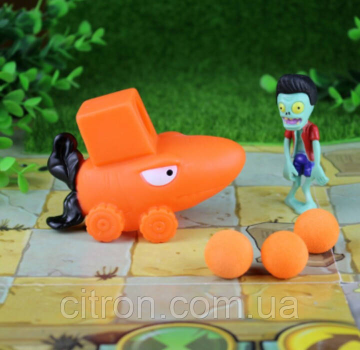 Игрушка Растения против зомби Морковь с Элвисом Plants vs zombies