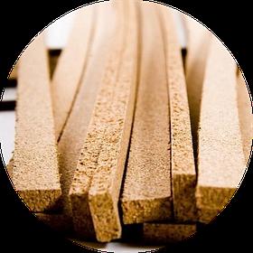 Пробковые порожки (компенсаторы) шлифованные и покрытые лаком