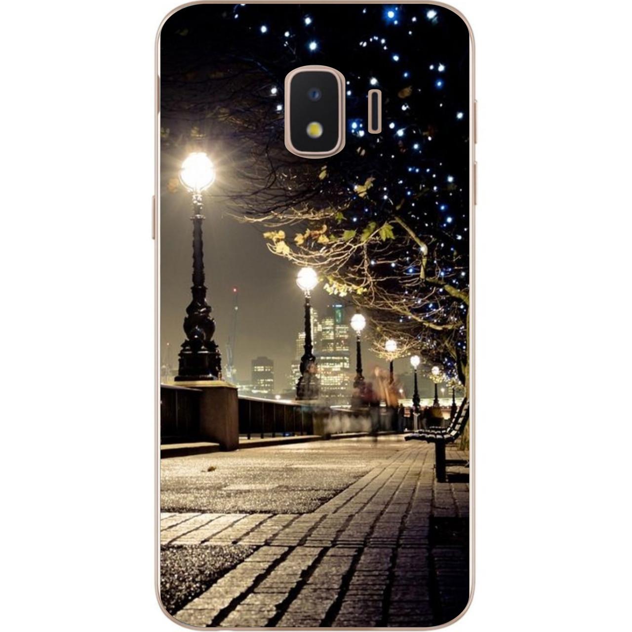 Силиконовый чехол с рисунком для Samsung J2 Core Galaxy 2018 с картинкой Улица