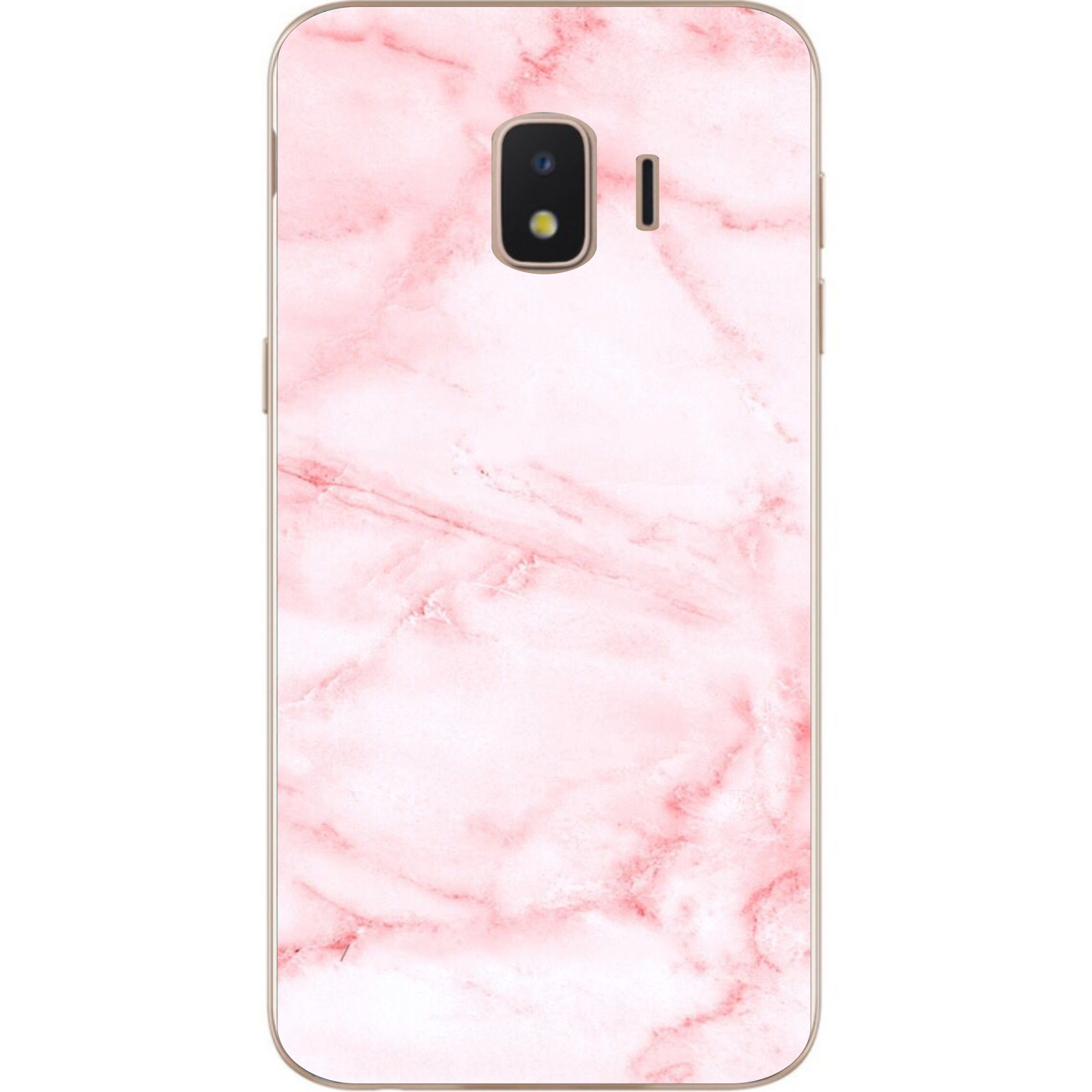 Силіконовий чохол з малюнком для Samsung J2 Core Galaxy 2018 з картинкою Рожевий мармур