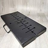 Мангал Огонёк раскладной в чемодан 2 мм с ножками на 8 шампуров Харьков, фото 3