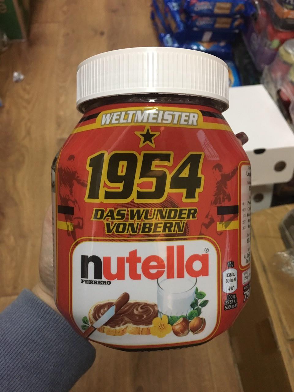 Nutella с уникальным футбольным дизайном 750 g