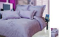 Комплект постельного белья, Сатин Жаккард, Евро, F8094