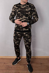 Спортивный камуфляжный теплый костюм