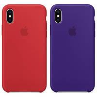 """Оригинальный силиконовый чехол для Apple iPhone XS (5.8"""") (выбор цвета)"""