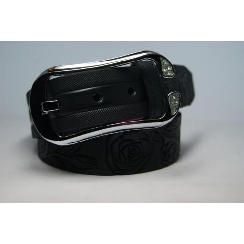 Ремень женский кожаный (черный) Andi 1049_042